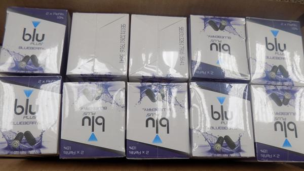 22x Blu plus blueberry e-cig refills