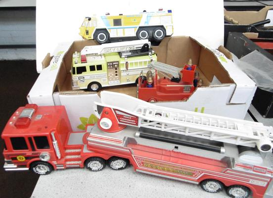Box of large fire vehicles