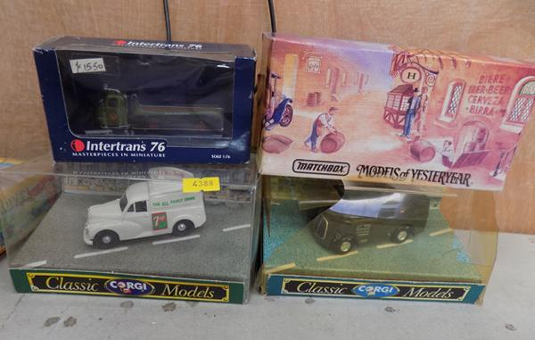 2 Corgi/ 1 Matchbox and 1 Intertrans lorry