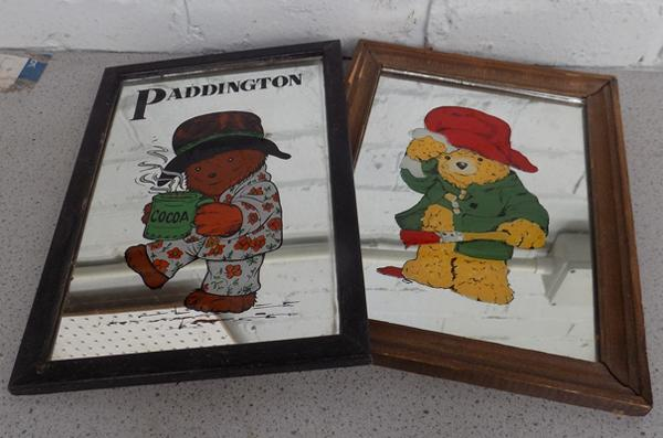 2x Vintage Paddington Bear mirrors