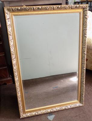 Large ornate framed mirror