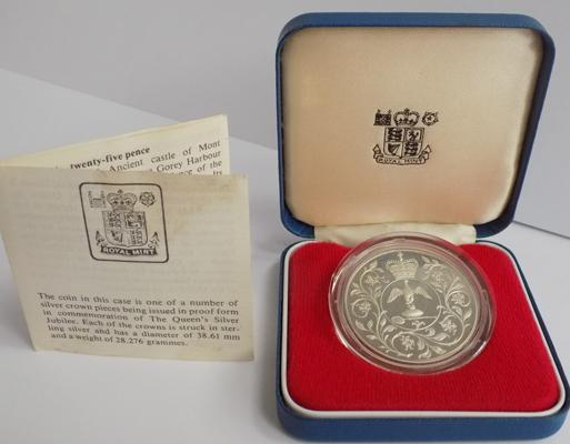 1977 sterling silver coin with COA - rare