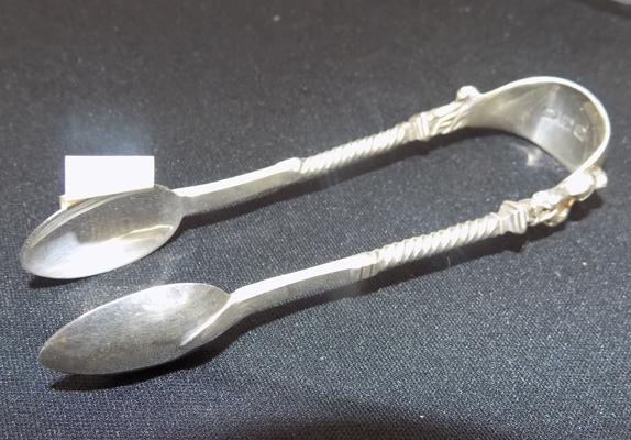 Silver sugar tongs