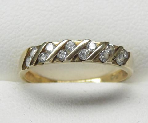 9ct gold half eternity ring size L1/2