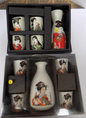 2 sets of Japanese drinking sets