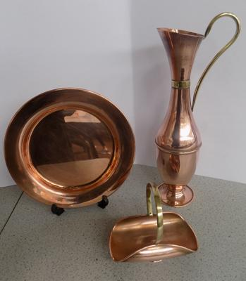 Three copper items
