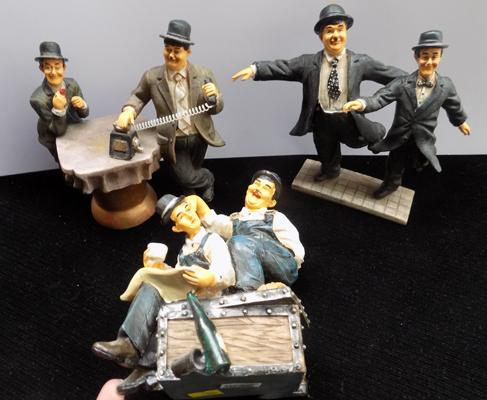 Three ceramic 'Laurel & Hardy' figures