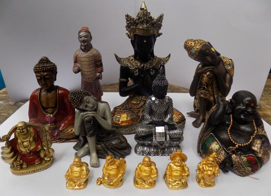 Selection of Buddha ornaments