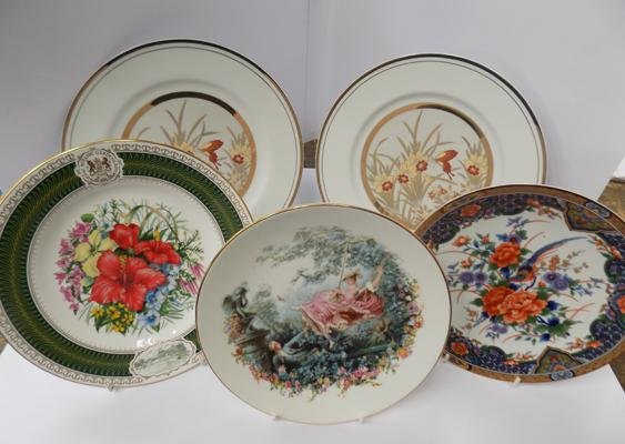 Collection of plates x 5, incl. Spode, Royal Grafton