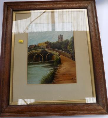 Oil painting, signed & dated, 1916, V. Watson