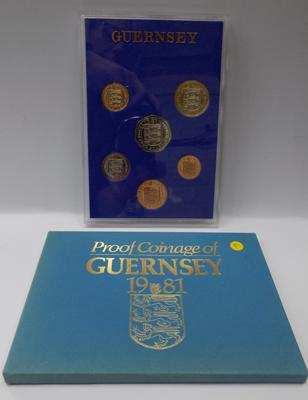 1981 Guernsey proof coin set