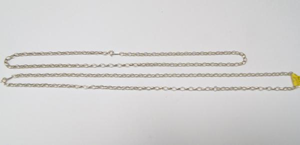 "Two silver belcher chains, 20"" & 24"" long"