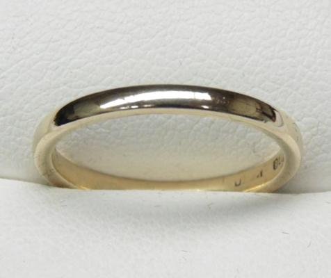 9ct gold ring size N1/4