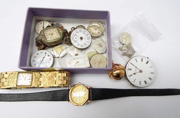 Collection of watch movement/parts & ladies watches - Bulova, Timex, Smiths, Vertex, Longines etc...