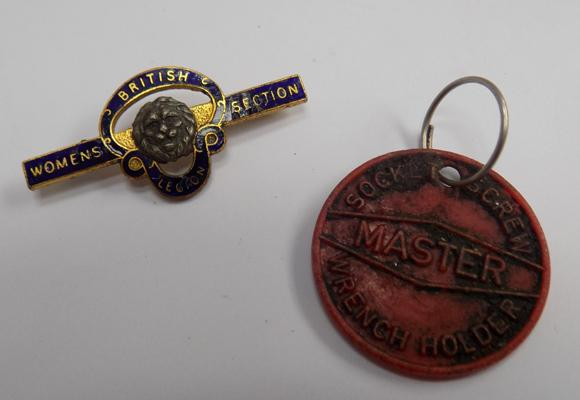Women's Legion badge & one other
