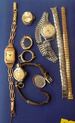 Selection of vintage watches, incl. 9ct gold cased watch