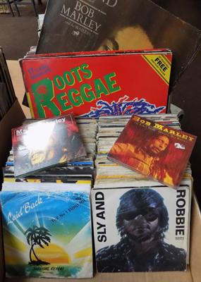 Reggae & Soul records, incl. Bob Marley, Dennis Brown,  Sly & Robbie, Madness etc...