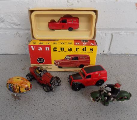 Selection of model toys and cars