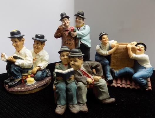 Four small Laurel & Hardy figures -1 Leonardo collection
