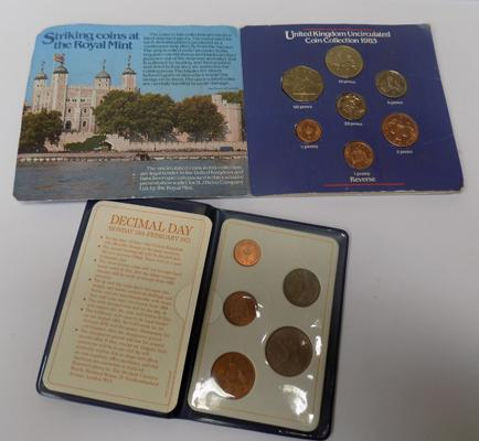 Heinz Royal Mint uncirculated coin collection, 1983 + first decimal coins