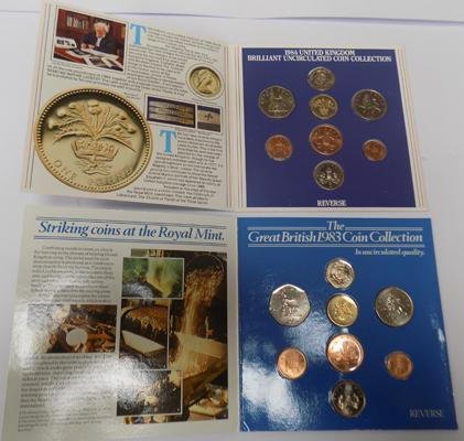 1983 & 1984 Royal Mint uncirculated coin collections