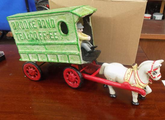 Cast iron Brooke Bond wagon