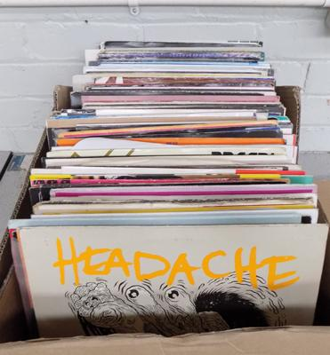 "Large box of mainly dance 12"" records"