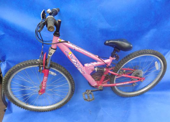 Apollo full suspension girl's mountain bike, FS24