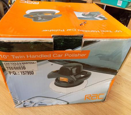 RAC twin handled car polisher - new