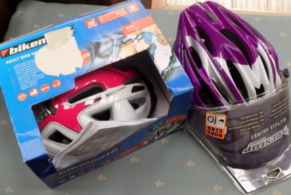 Two bicycle helmets - new