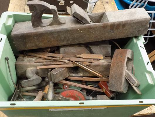 Box of vintage tools