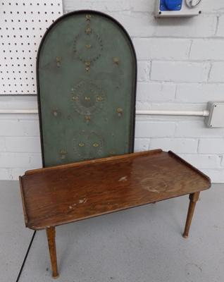 Vintage folding table/tray and game