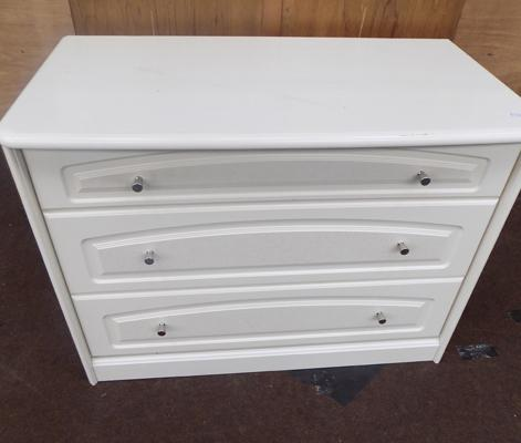 White 3 drawer set