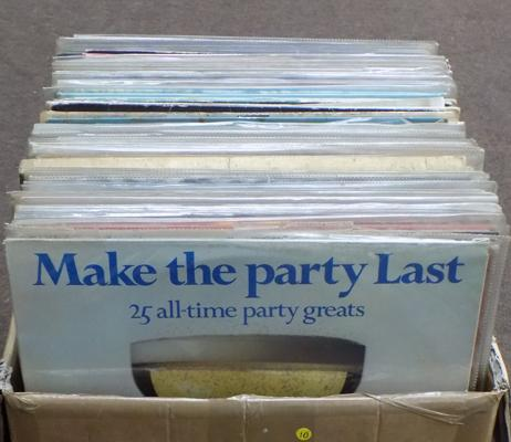 Mixed box of LP records