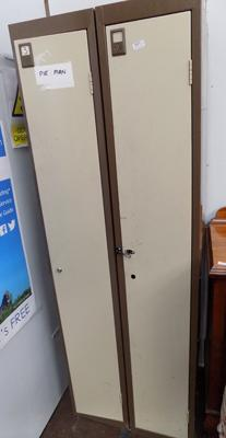 Two cloakroom lockers/gun cabinets