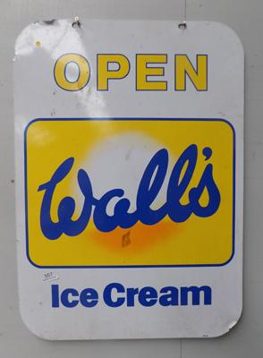 Vintage large Walls ice-cream double sided metal sign
