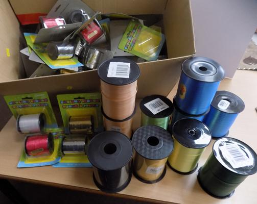 Box of curling ribbon - various colours