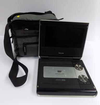 Portable DVD player with 3 batteries, mains and 12V adaptors