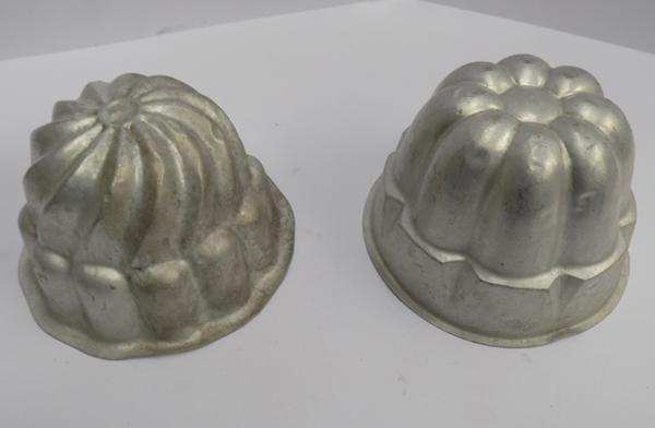 Two vintage jelly moulds