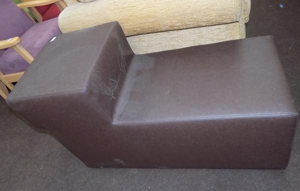 Brown cube step chair