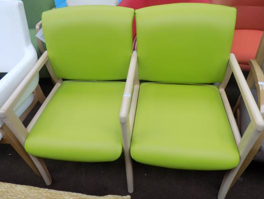 Two seater green chair