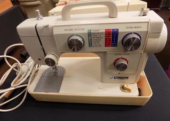 New home sewing machine with pedal