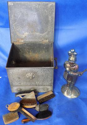 Vintage coal bin + fire companion