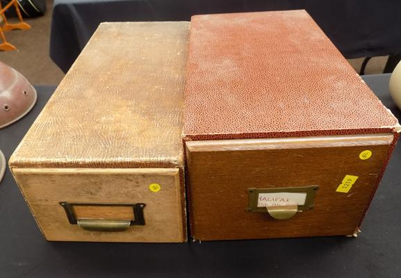Two Index card boxes