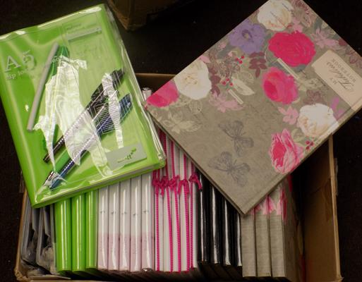 Box of notepads