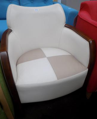 Cream & beige tub chair
