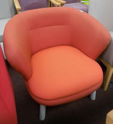 Orange tub chair
