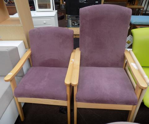 His & Hers purple armchair