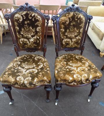 Two Victorian carved chairs