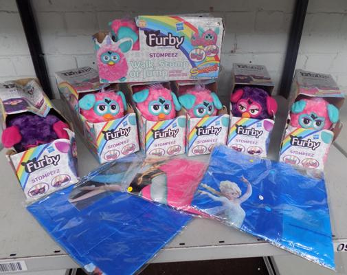 Furby, Stompeez and Frozen bags